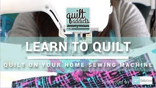 Walking Foot Quilting! Straight and Wavy Lines - FREE Beginner Quilting Videos and Pattern