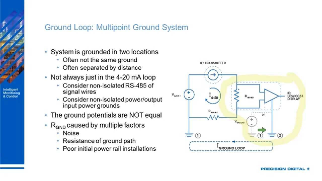 Ground Loops in 4-20 mA Signals - YouTube on ssr wiring-diagram, motion detector lights wiring-diagram, 7 round wiring-diagram, potentiometer wiring-diagram, pyrometer wiring-diagram, transducer wiring-diagram, profibus wiring-diagram, rs232 wiring-diagram, 4 wire rtd wiring-diagram, encoder wiring-diagram, 4 wire transmitter wiring-diagram, rs485 wiring-diagram, plc analog input card wiring-diagram, devicenet wiring-diagram, 24vdc wiring-diagram, usb wiring-diagram, rtd probe wiring-diagram, daisy chain wiring-diagram, rs-422 wiring-diagram,