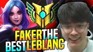 FAKER The BEST LEBLANC in KOREA - SKT T1 Faker Plays Leblanc vs Ryze Mid  T1 Faker KR SoloQ