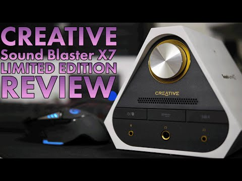 Creative Sound Blaster X7 Limited Edition Review | Best DAC for Gaming | PC and Console