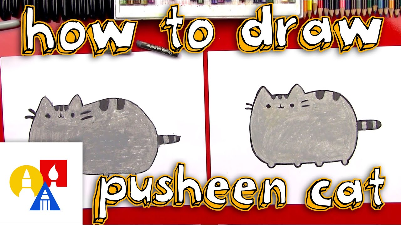 Art For Kids How To Draw The Pusheen Cat Youtube
