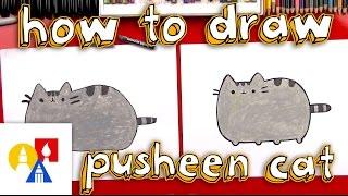 pusheen drawing lesson