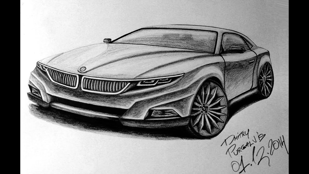 Drawing BMW M Sport Coupe Concept