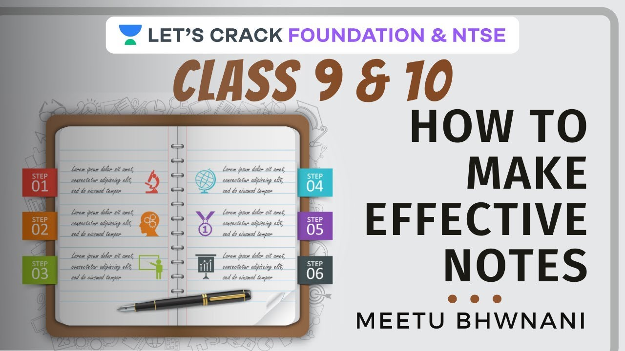 Download How to make effective notes for class 9th and 10th | Strategy, Tips & Tricks | Dr. Meetu Bhawnani