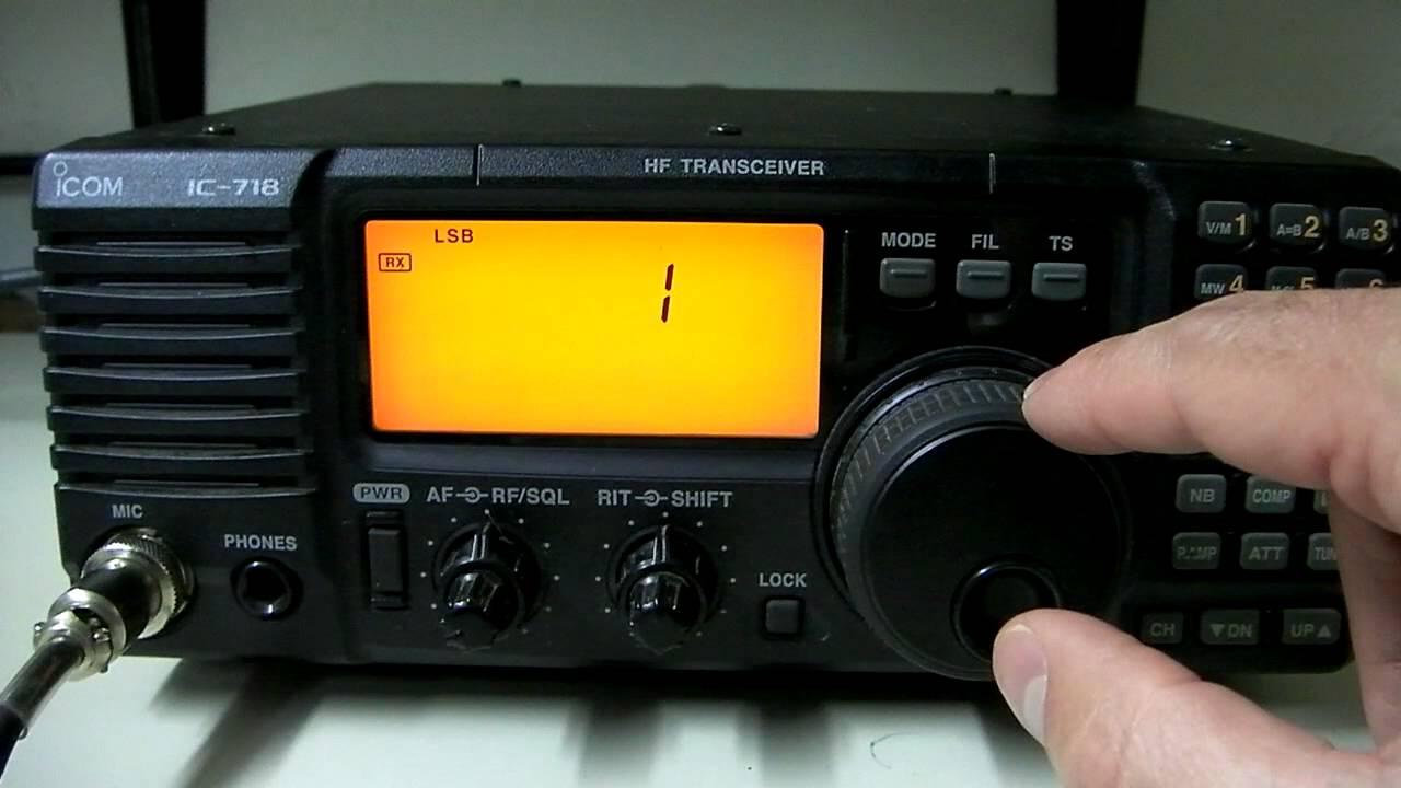 Icom IC-718 HF Radio Overview & CB Mod Info