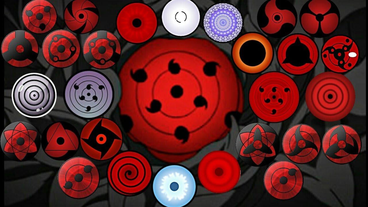 Narutoall Dojutsu Eye Forms Abilityketsuryuganrinnegantenseigan