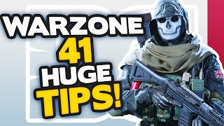 Warzone 41 HUGE tips to INSTANTLY get BETTER (MODERN WARFARE BATTLE ROYALE)