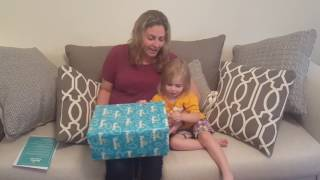 Unboxing a NEW Pampers product with my Toddler - MamaSmiths.com