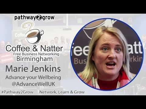 Marie Jenkins Coffee & Natter Birmingham Free Business Networking Testimonial