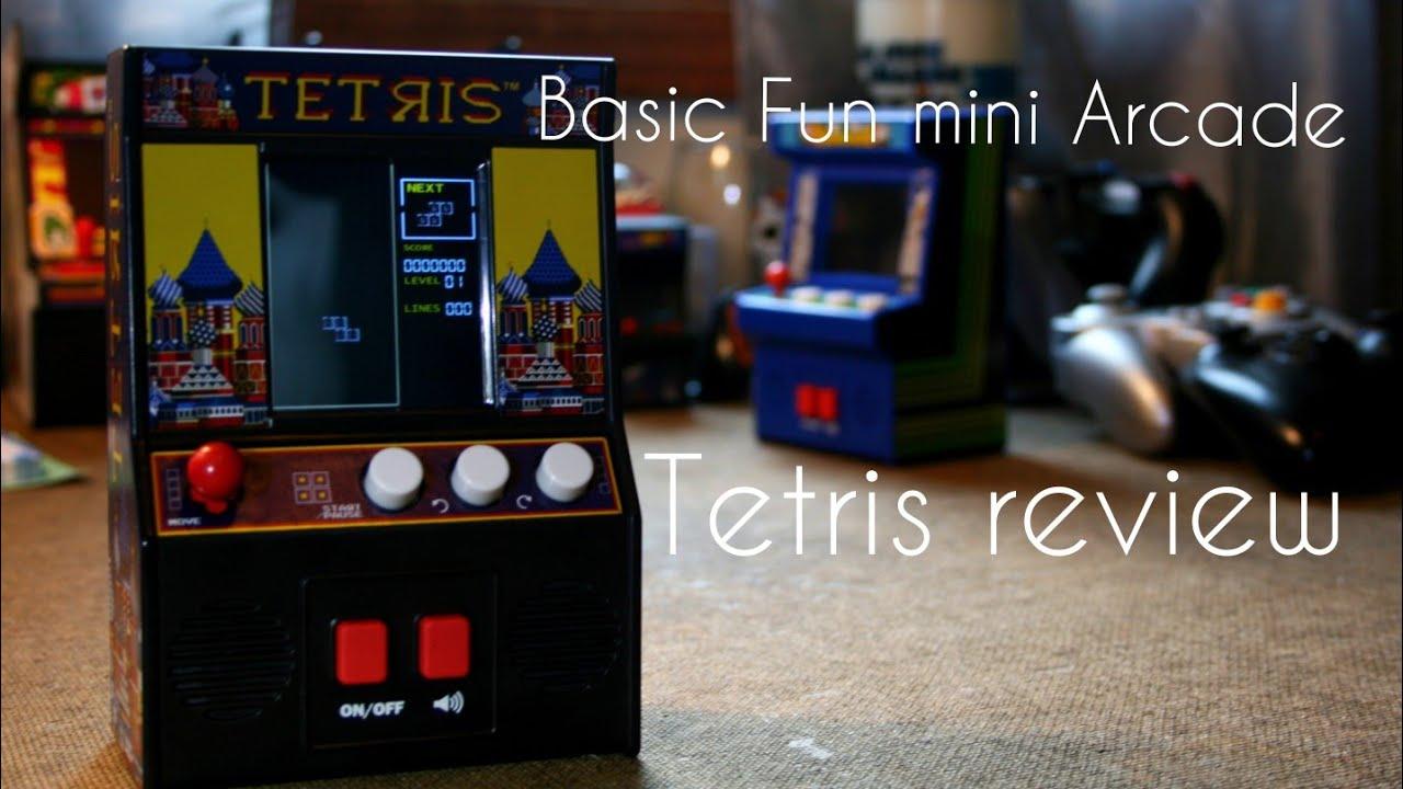 Basic Fun mini Tetris arcade review - YouTube