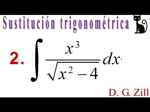Integración por sustitución trigonométrica. Zill 7.5_2