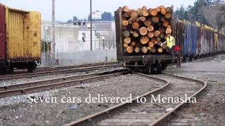 Coos Bay Rail Link delivers log train