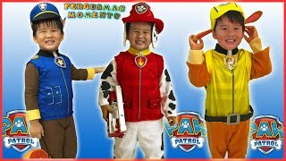 Paw Patrol CHASE, MARSHALL and RUBBLE Party Costume For KIDS Unpacking and Fitting