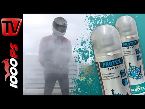 Motorex Protex - Imprägnierspray im Test - Motorradbekleidung wasserdicht machen