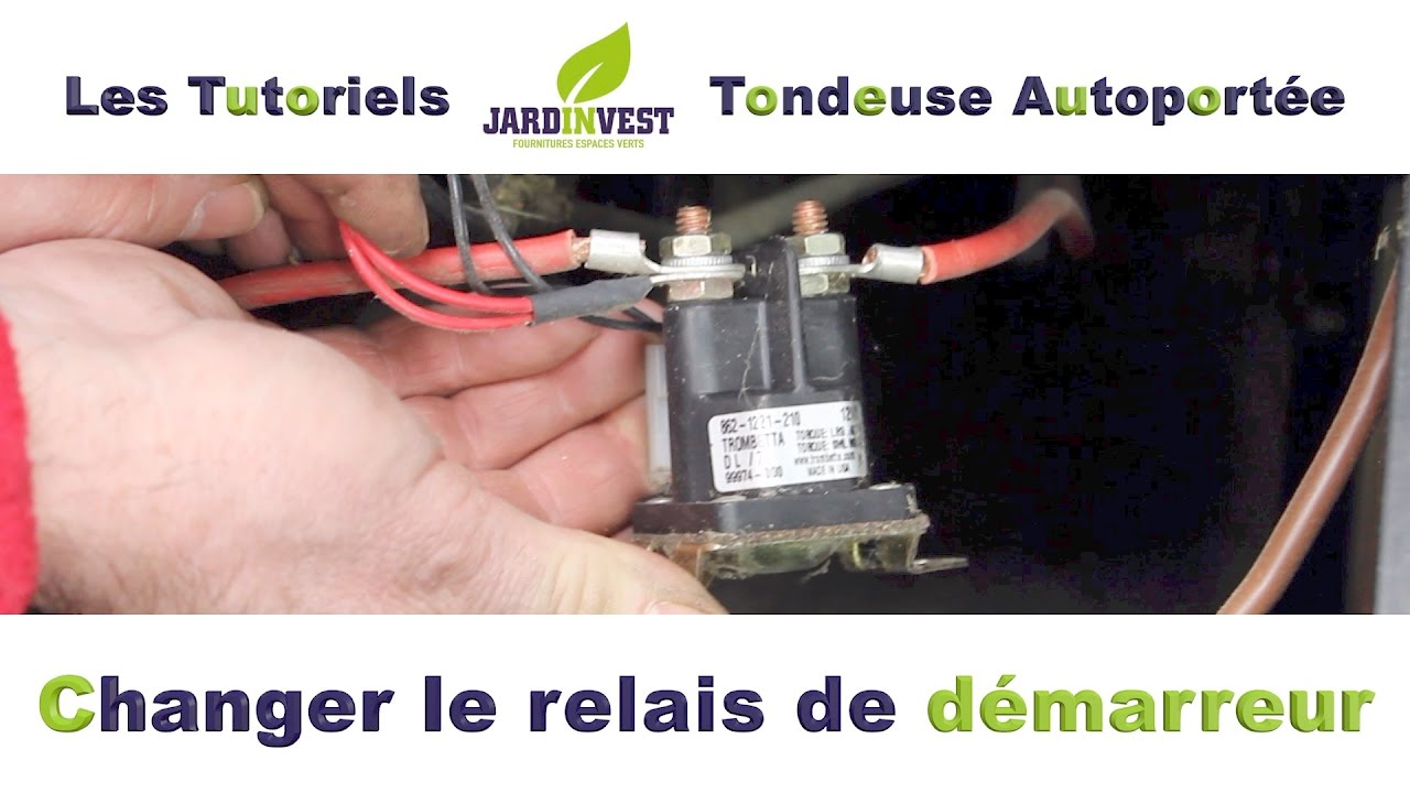 tutoriel autoport e n 13 comment changer le relais de d marreur et solenoide de tondeuse. Black Bedroom Furniture Sets. Home Design Ideas