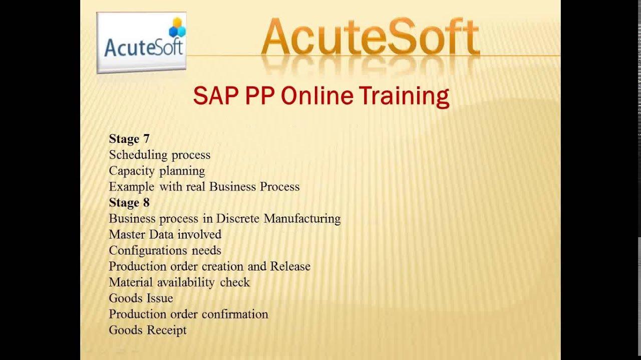 SAP PP Online Training