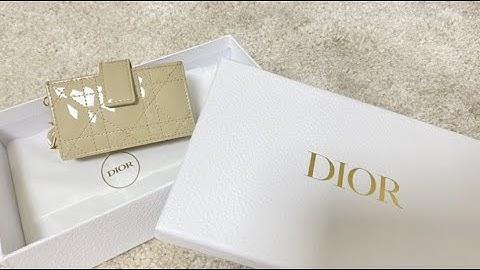 [언박싱] 디올 아코디언 카드지갑/ Dior Unboxing🖤