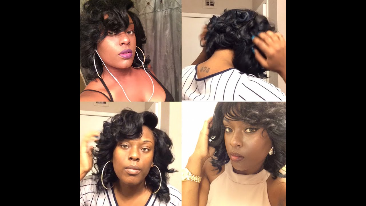 How to curl  style a bob (lace closure wig) - YouTube c3ea07f692c5