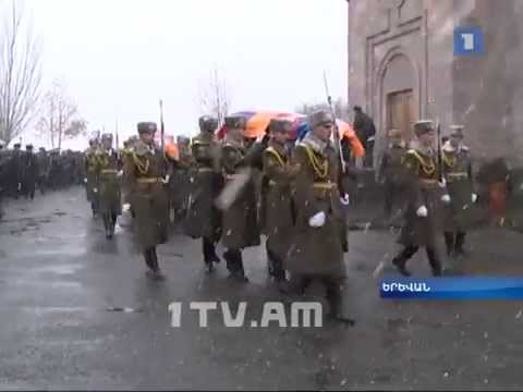 Armenian Military Chopper Pilots Burial In Yerevan Nov 25 2014