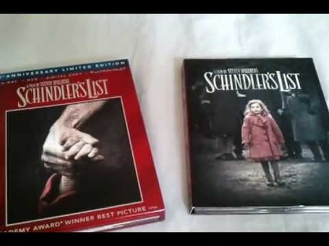 Schindler's List 1993  20th Anniversary Limited Edition Blu Ray  and Unboxing