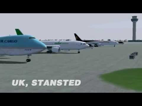Korean Air Flight 8509 B747-200F, London Stansted Crash Disaster (Flight Simulator 2004)