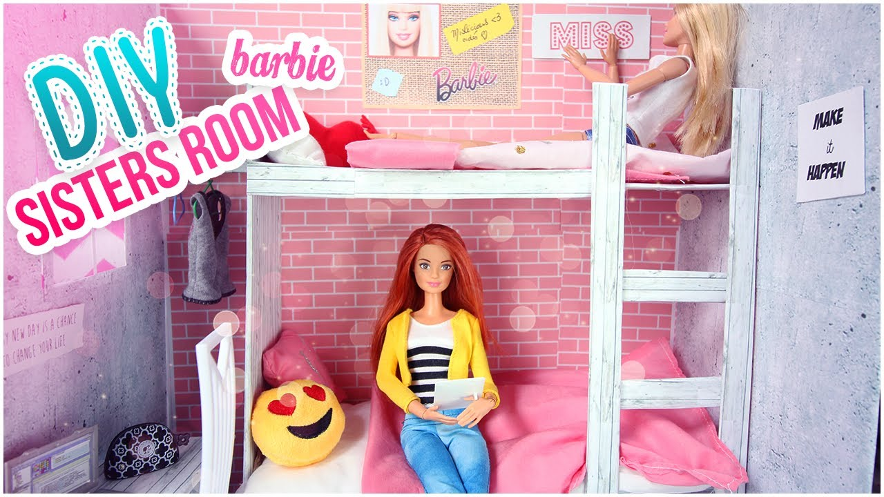 diy barbie chambre comment faire lits superpos s pour. Black Bedroom Furniture Sets. Home Design Ideas