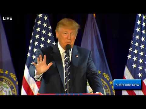 Donald Trump FBI OPENS HILLARY CLINTON INVESTIGATION Rally In Manchester, New Hampshire FULL HD ✔