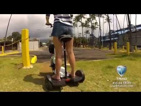 Stand Up Electric Scooter >> Stand and Ride or Sit Electric Recreational Mobility Scooter Triad 750 - YouTube