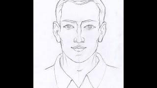 Как рисовать ЛИЦО МУЖЧИНЫ карандашом. Часть 1. Урок 51.  How to draw A FACE OF A MAN with a pencil(Изучим, как рисовать лицо мужчины карандашом в фас. How to draw a face of a man with a pencil. Рисунок лица мужчины поэтапно..., 2015-01-31T15:16:57.000Z)