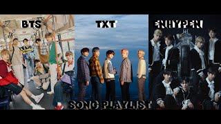 BTS ~ TXT ~ ENHYPEN/I-LAND Song Playlist
