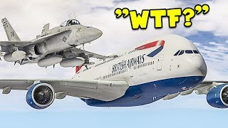 Escorting Random Planes in GTA 5 Flight Simulator