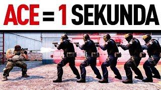 ACE W 1 SEKUNDĘ !?! JAK TO MOŻLIWE !?! SZALONY EKSPERYMENT ! (CS:GO)