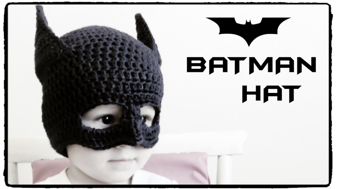 Crochet Pattern Batman Hat : How to crochet BATMAN HAT (all sizes) ? CROCHET LOVERS ...