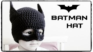 How to crochet BATMAN HAT (all sizes) ♥ CROCHET LOVERS