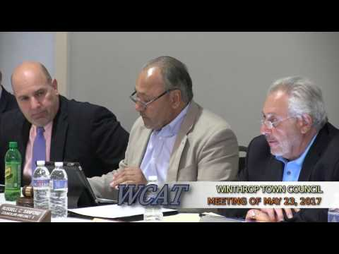 Winthrop Town Council Meeting of May 23, 2017