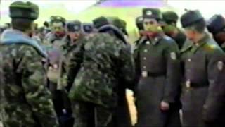 Февраль 1989. Вывод. СССР. Термез. СССР. Прощание комдива с дембелями