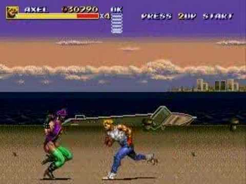 MD Streets of Rage 3 (Bare Knuckle 3) Axel vs Ash