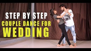 Couple Dance Step For Wedding & Party | Easy Salsa | Vicky Patel Dance Tutorial