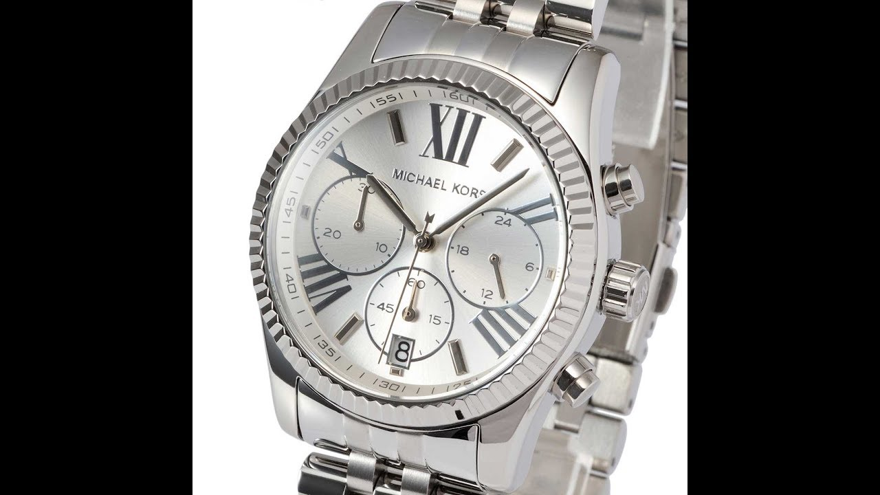 ddddd8d5e190 NEW MICHAEL KORS MK5555 LADIES WATCH LEXINGTON SILVER STAINLESS STEEL MK5555  マイケルコース レキシントン レディース腕時計