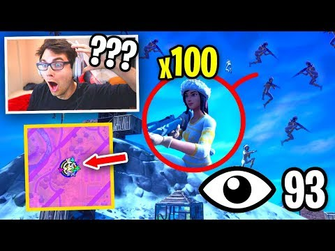 I Got 100 FANS to Compete with LOW GRAVITY for $100 on Fortnite... (SO SWEATY)