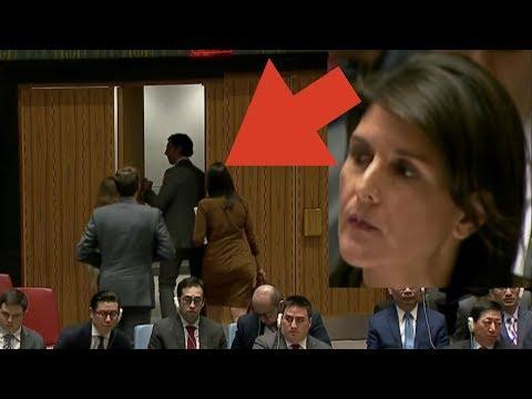 U.S. Ambassador Nikki Haley Arrogantly Leaves UN Security Council Meeting
