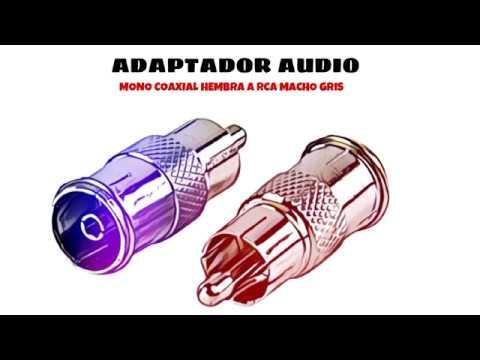 Video de Adaptador audio mono coaxial hembra a rca macho  Gris