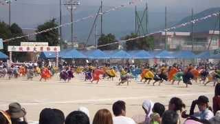 H25年度 愛媛県新居浜市立中萩小学校 運動会 『輝』