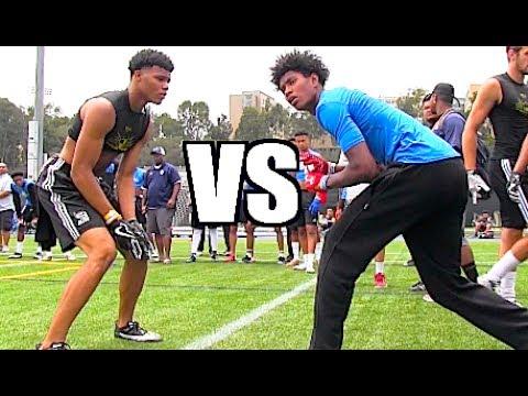 🔥🔥 UCLA Bruin Elite Football Camp | WRs vs DBs - UTR Top Plays 2017
