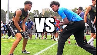 🔥🔥 UCLA Bruin Elite Football Camp | WRs vs DBs - UTR Top Plays 2017