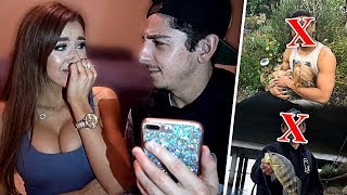 REACTING TO MY GIRLFRIEND'S EX BOYFRIENDS... **super awkward**