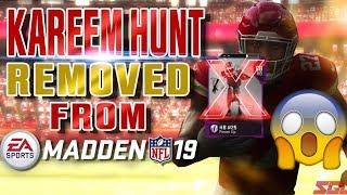 Kareem Hunt REMOVED from Madden 19!