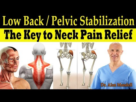 The Key to Neck Pain & Headache Relief (Low Back/Pelvic Stabilization Exercises) - Dr Mandell, DC