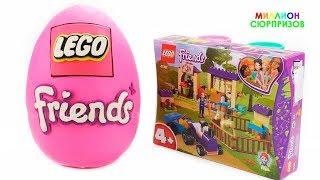 Огромное Плей До Яйцо Лего | Учим название Фруктов | Учим Цвета с Пледох | Строим Конюшню из Лего