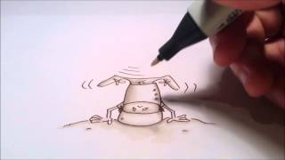 Fun video of illustration for new book